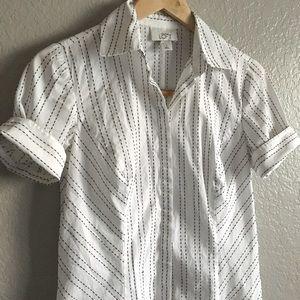 LOFT white button up blouse